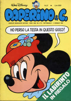 Copertina PAPERINO & C. n.27 - Paperino & C., MONDADORI EDITORE