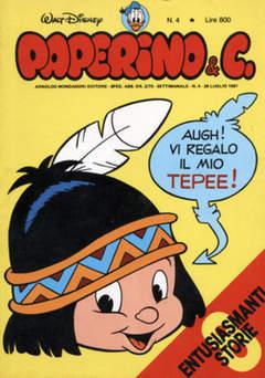 Copertina PAPERINO & C. n.4 - Paperino & C., MONDADORI EDITORE