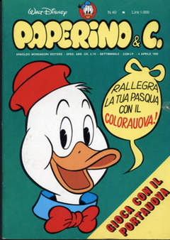 Copertina PAPERINO & C. n.40 - Paperino & C., MONDADORI EDITORE