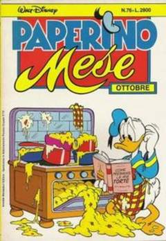 Copertina PAPERINO MESE n.76 - PAPERINO MESE               76, MONDADORI EDITORE