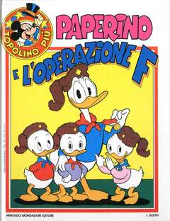 Copertina TOPOLINO PIU' n.10 - PAPERINO E L'OPERAZIONE F, MONDADORI EDITORE