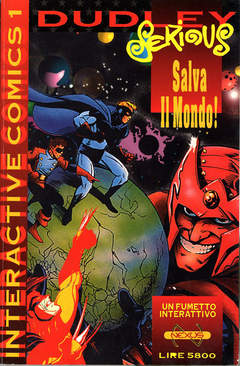 Copertina INTERACTIVE COMICS n.1 - DUDLEY SERIOUS SALVA IL MONDO!, NEXUS