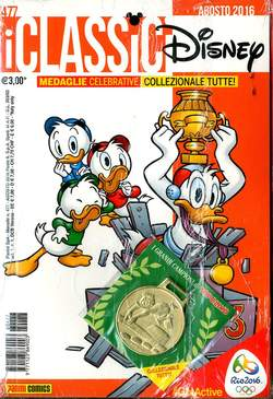 Copertina CLASSICI DISNEY n.477 - CLASSICI DISNEY con medaglia, PANINI COMICS