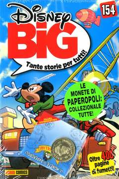 Copertina DISNEY BIG #154 CON MONETA n. - CON MONETA PAPERDOLLARI, PANINI COMICS