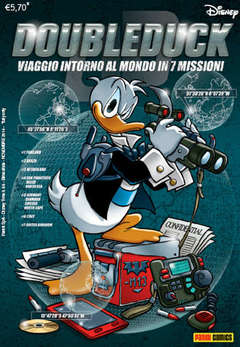 Copertina DISNEY TIME n.66 - DOUBLEDUCK: VIAGGIO INTORNO AL MONDO IN 7 MISSIONI, PANINI COMICS