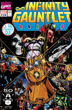 Copertina MARVEL LEGENDS n.5 - INFINITY GAUNTLET 1, PANINI COMICS