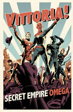 Copertina MARVEL MINISERIE n.199 - SECRET EMPIRE OMEGA - Variant SUPER FX, PANINI COMICS