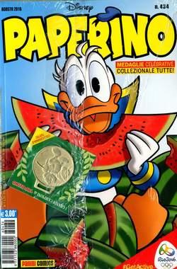 Copertina PAPERINO MESE n.434 - PAPERINO MESE con medaglia, PANINI COMICS