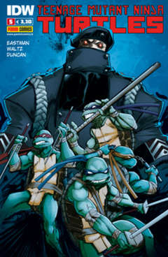 Copertina TEENAGE MUTANT NINJA TURTLES n.5 - PANINI NINJA 5, PANINI COMICS
