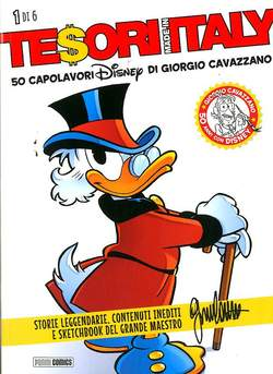 Copertina TESORI MADE IN ITALY (m6) n.1 - LE PIU' BELLE OPERE DISNEY FIRMATE CAVAZZANO, PANINI COMICS