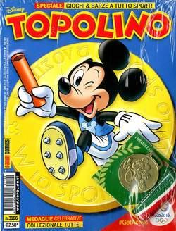 Copertina TOPOLINO LIBRETTO n.3166 - TOPOLINO con medaglia, PANINI COMICS