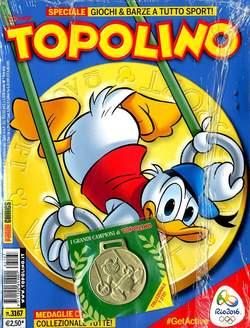 Copertina TOPOLINO LIBRETTO n.3167 - TOPOLINO con medaglia, PANINI COMICS