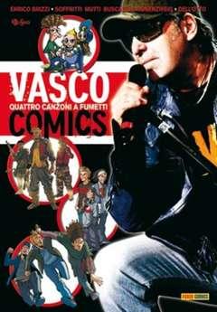 Copertina VASCO COMICS n.0 - QUATTRO CANZONI A FUMETTI, PANINI COMICS