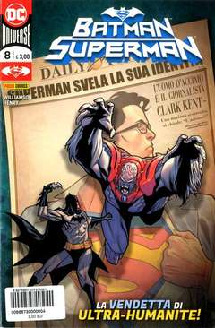 Copertina BATMAN/SUPERMAN n.8 - BATMAN/SUPERMAN, PANINI DC