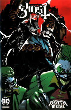 Copertina DC CROSSOVER #08 Variant n.1 - GHOST Variant Band Edition (Werther Dell'Edera), PANINI DC