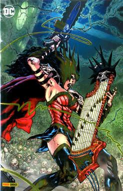 Copertina DC CROSSOVER #08 Variant n.2 - Variant Metal, PANINI DC