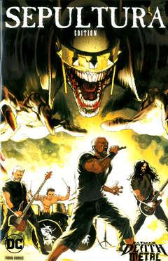 Copertina DC CROSSOVER #11 Variant n.1 - SEPULTURA Variant Band Edition (Rafel Albuquerque), PANINI DC