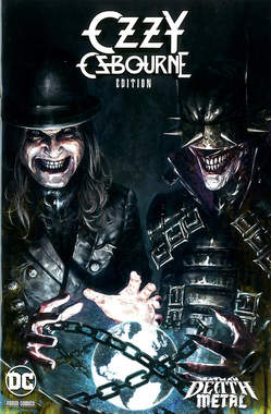 Copertina DC CROSSOVER #13 Variant n.1 - OZZY OSBOURNE Variant Band Edition (Marco Mastrazz, PANINI DC