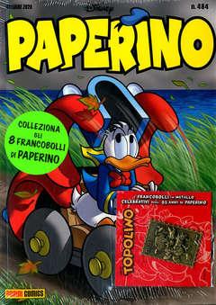 Copertina PAPERINO #484 CON ALLEGATO n. - CON 1 FRANCOBOLLO, PANINI DISNEY