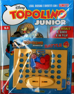 Copertina TOPOLINO JUNIOR n.3 - TOPOLINO JUNIOR, PANINI DISNEY