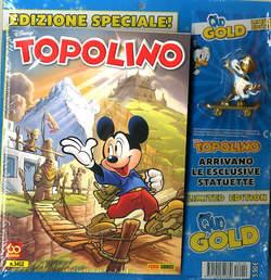 Copertina TOPOLINO LIBRETTO CON ALLEGATI n.3412 - CON QUO GOLD, PANINI DISNEY