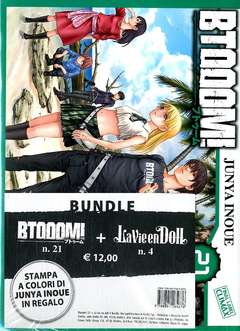 Copertina BTOOOM! n.21 - BTOOOM! 21 + LA VIE EN DOLL 4 + Litografia, PLANET MANGA