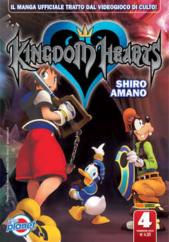 Copertina KINGDOM HEARTS n.4 - KINGDOM HEARTS, PLANET MANGA