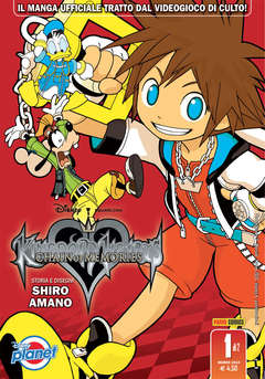 Copertina KINGDOM HEARTS CHAIN OF... n.1 - KINGDOM HEARTS CHAIN OF MEMORIES, PLANET MANGA