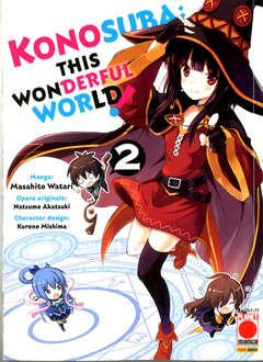 Copertina KONOSUBA! THIS WONDERFUL WORLD n.2 - CAPOLAVORI MANGA, PLANET MANGA