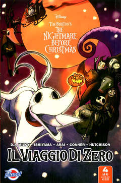 Copertina NIGHTMARE BEFORE CHRISTMAS n.4 - IL VIAGGIO DI ZERO 4, PLANET MANGA