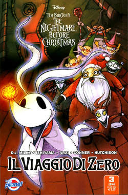 Copertina NIGHTMARE BEFORE CHRISTMAS n.3 - IL VIAGGIO DI ZERO 3 (m4), PLANET MANGA