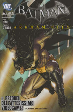 Copertina BATMAN ARKHAM CITY (m5) n.1 - BATMAN: ARKHAM CITY, PLANETA-DE AGOSTINI