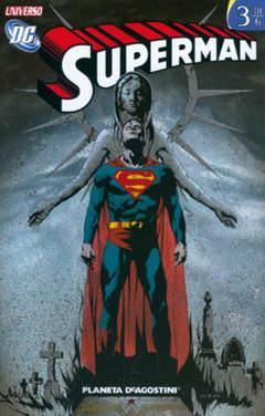 Copertina SUPERMAN UNIVERSO DC (m6) n.3 - UNIVERSO DC, PLANETA-DE AGOSTINI