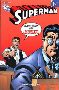 Copertina SUPERMAN UNIVERSO DC (m6) n.6 - UNIVERSO DC, PLANETA-DE AGOSTINI
