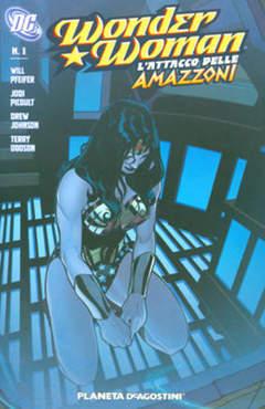 Copertina WONDER WOMAN ATTACCO AMAZZONI n.1 - L'ATTACCO DELLE AMAZZONI, PLANETA-DE AGOSTINI