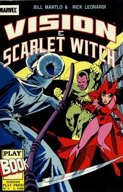 Copertina PLAY BOOK n.1 - VISION E SCARLET WITCH, PLAY PRESS