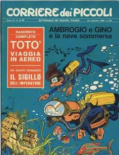 Copertina CORRIERE DEI PICCOLI 1968 n.38 - CORRIERE DEI PICCOLI 1968   38, RIZZOLI LIBRI
