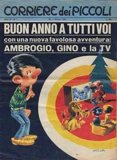 Copertina CORRIERE DEI PICCOLI 1968 n.1 - CORRIERE PICCOLI 1 ( non in buono stato ), RIZZOLI LIBRI