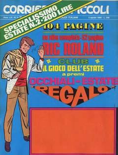 Copertina CORRIERE DEI PICCOLI 1969 n.31 - CORRIERE DEI PICCOLI 1969   31, RIZZOLI LIBRI