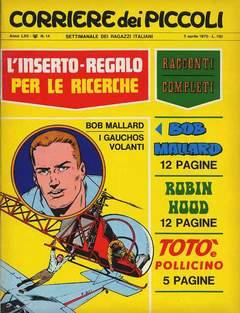 Copertina CORRIERE DEI PICCOLI 1970 n.14 - CORRIERE DEI PICCOLI 1970   14, RIZZOLI LIBRI