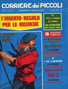 Copertina CORRIERE DEI PICCOLI 1970 n.16 - CORRIERE DEI PICCOLI 1970   16, RIZZOLI LIBRI
