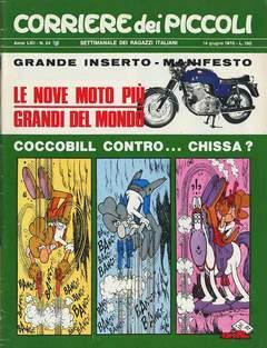 Copertina CORRIERE DEI PICCOLI 1970 n.24 - CORRIERE DEI PICCOLI 1970   24, RIZZOLI LIBRI