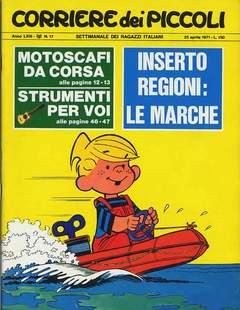Copertina CORRIERE DEI PICCOLI 1971 n.17 - CORRIERE DEI PICCOLI 1971   17, RIZZOLI LIBRI