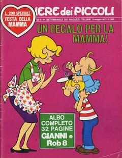 Copertina CORRIERE DEI PICCOLI 1971 n.19 - CORRIERE DEI PICCOLI 1971   19, RIZZOLI LIBRI