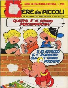 Copertina CORRIERE DEI PICCOLI 1971 n.41 - CORRIERE DEI PICCOLI 1971   41, RIZZOLI LIBRI