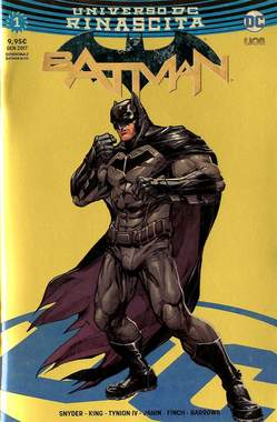 Copertina BATMAN #1 Variant Cover n.4 - Gold Chromium Rinascita Gold Point, RW LION