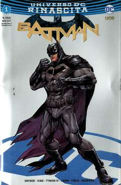 Copertina BATMAN #1 Variant Cover n.3 - Silver Chromium Rinascita Silver Point, RW LION