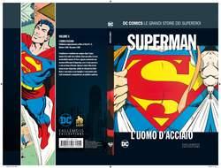 Copertina DC COMICS LE GRANDI STORIE... n.5 - SUPERMAN: L'UOMO D'ACCIAIO, RW LION