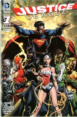 Copertina DC REBOOT #1 terza ristampa n.3 - JUSTICE LEAGUE, RW LION