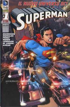 Copertina DC REBOOT SUPERVARIANT n.4 - SUPERMAN #1 SUPERVARIANT SILVER, RW LION